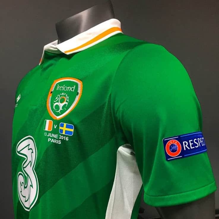 Maillot domicile Irlande 2016 - Euro 2016
