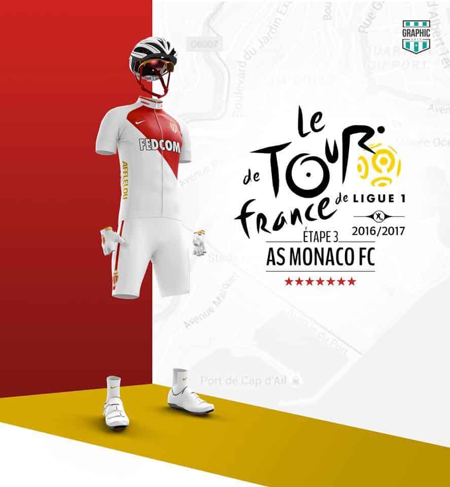 AS Monaco Maillot Cyclisme Graphic UNTD Ligue 1 2016 2016