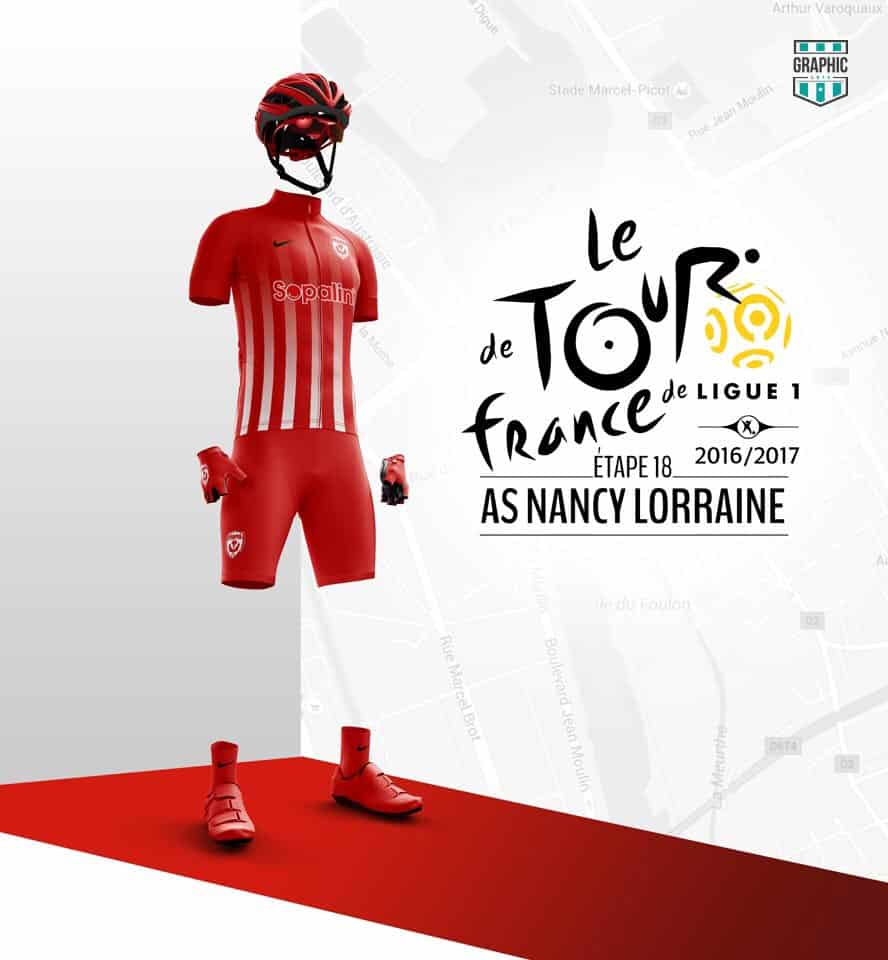 ASNL Maillot Cyclisme Graphic UNTD Ligue 1 2016 2016