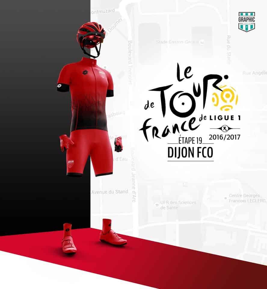 Dijon Maillot Cyclisme Graphic UNTD Ligue 1 2016 2016