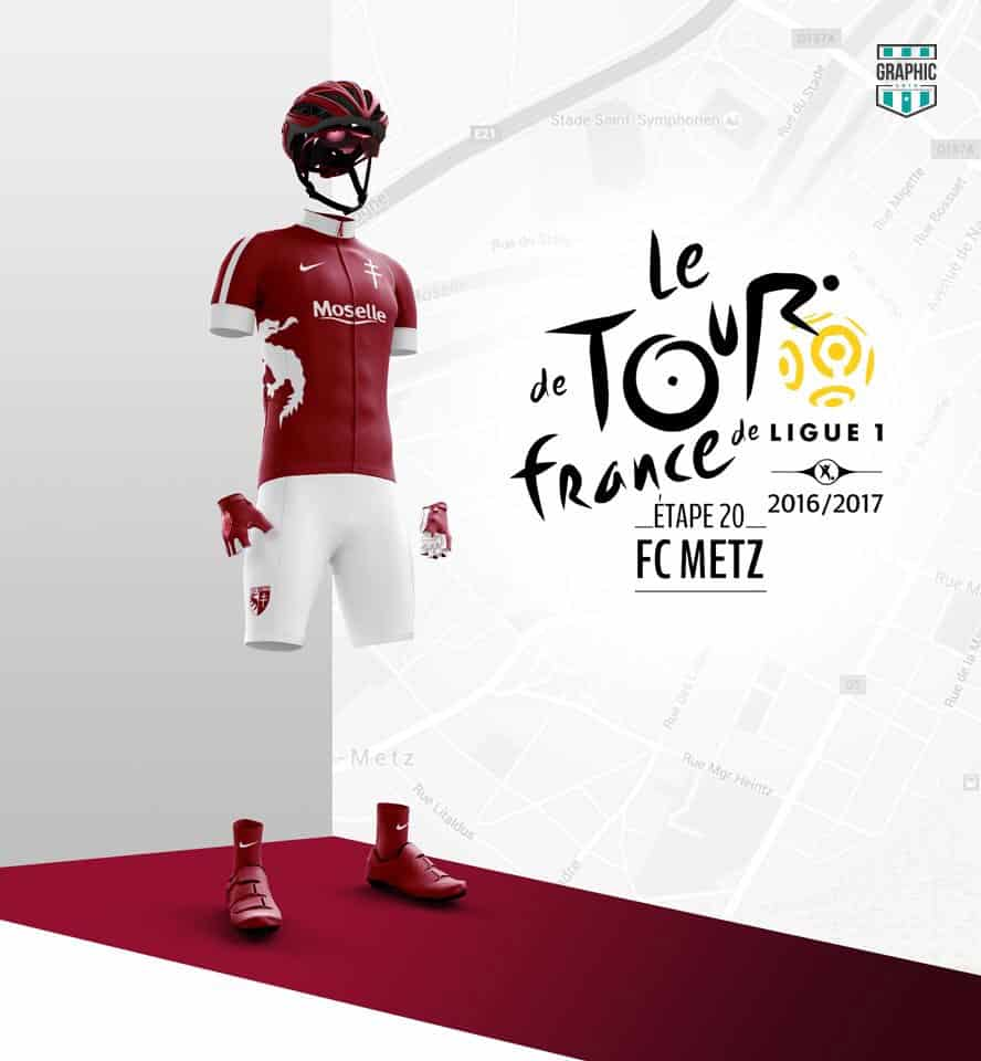 FC Metz Maillot Cyclisme Graphic UNTD Ligue 1 2016 2016