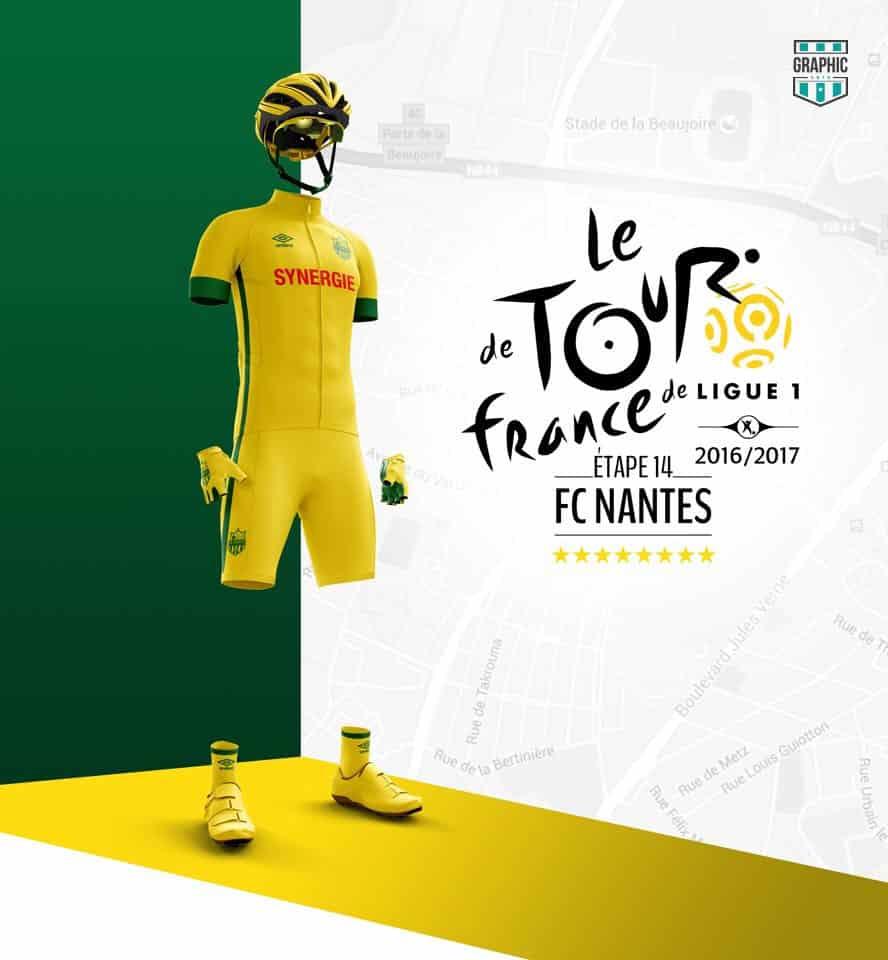 FC Nantes Maillot Cyclisme Graphic UNTD Ligue 1 2016 2016