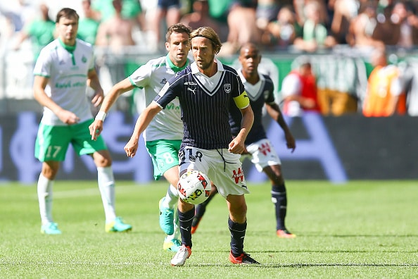 Jaroslav Plasil of Bordeaux during the football Ligue 1 match between Girondins de Bordeaux and As Saint Etienne at Nouveau Stade de Bordeaux on August 13, 2016 in Bordeaux, France. (Photo by Manuel Blondeau/Icon Sport) (Photo by Manuel Blondeau/Icon Sport via Getty Images)