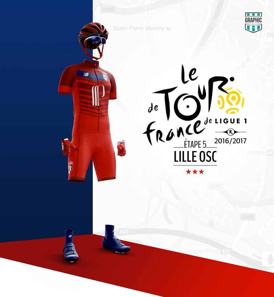 Lille LOSC Maillot Cyclisme Graphic UNTD Ligue 1 2016 2016