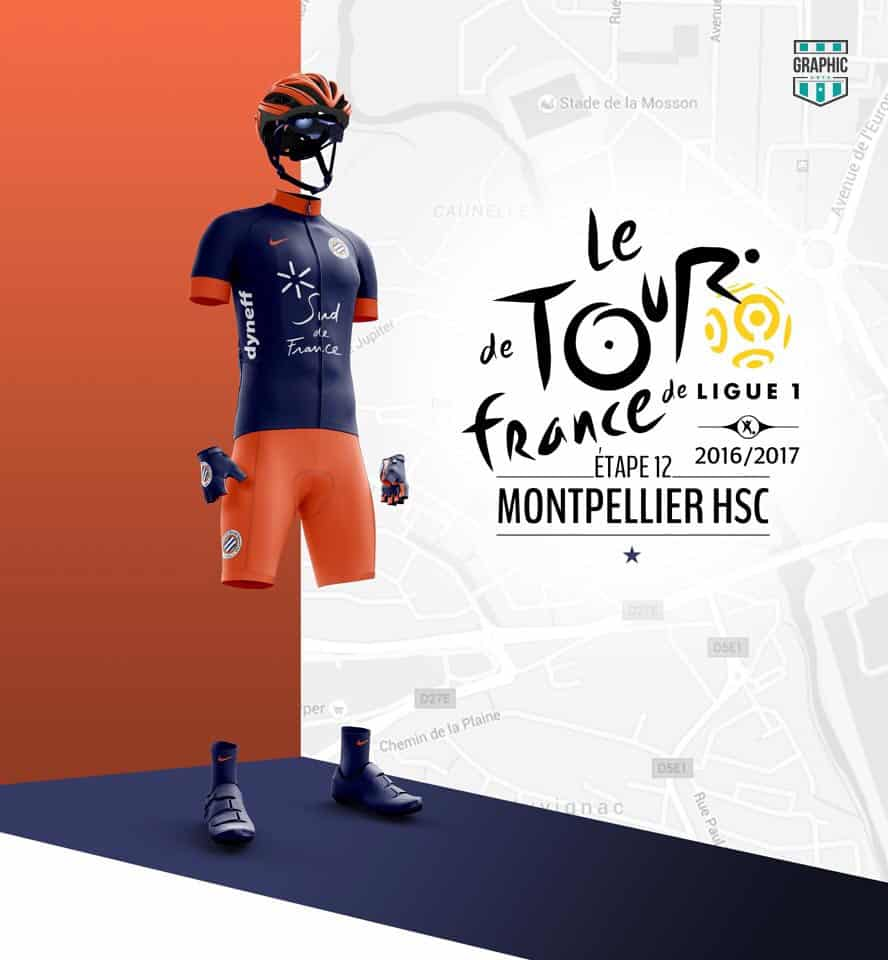 Montpellier MHSC Maillot Cyclisme Graphic UNTD Ligue 1 2016 2016