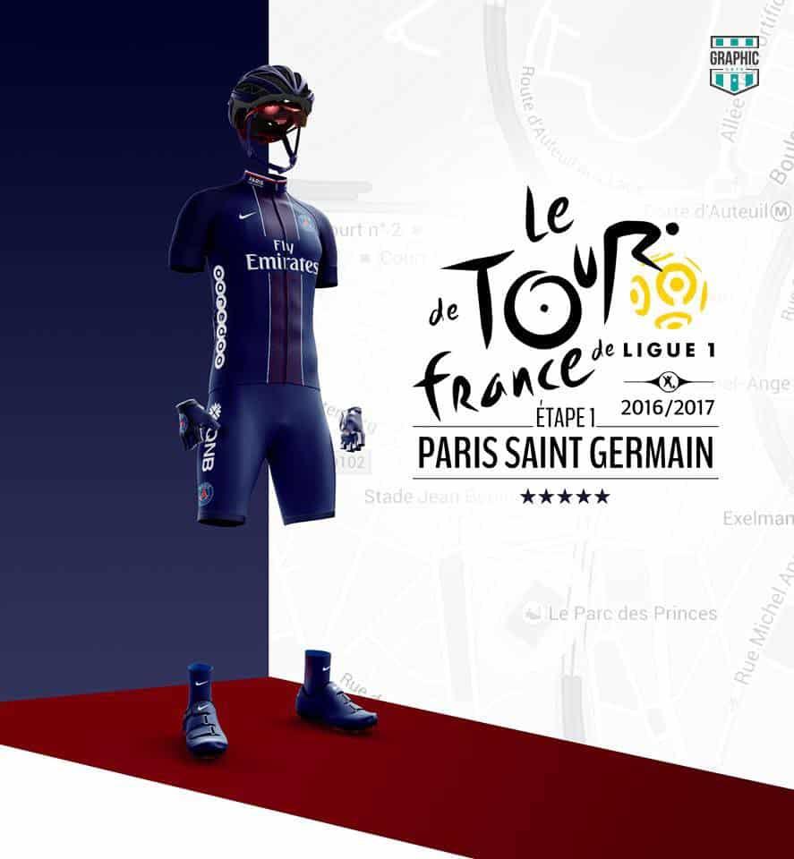 Paris SG PSG Maillot Cyclisme Graphic UNTD Ligue 1 2016 2016