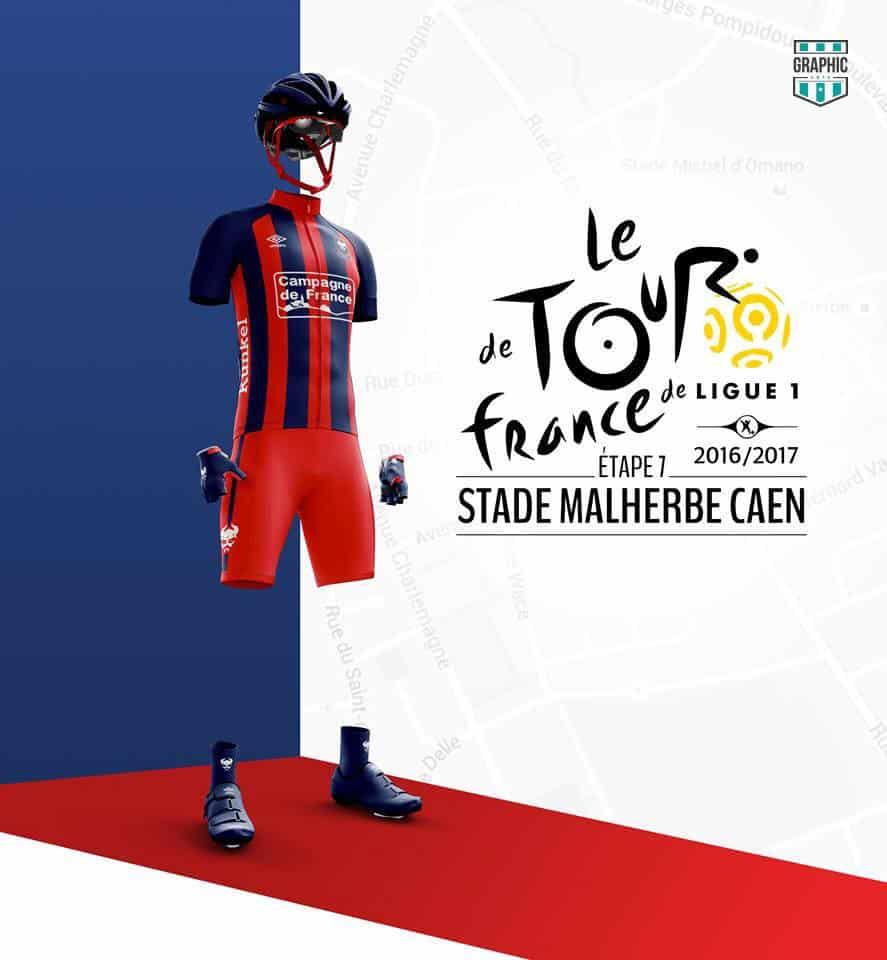 SM Caen Maillot Cyclisme Graphic UNTD Ligue 1 2016 2016