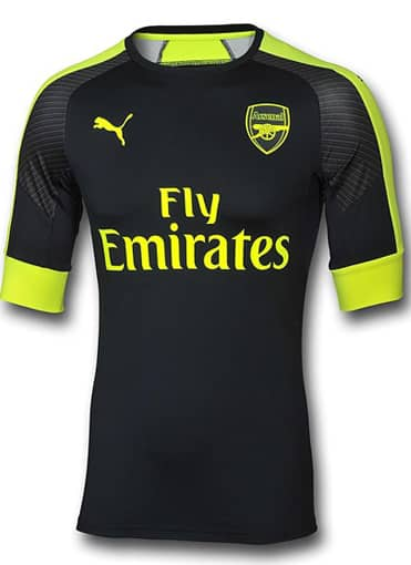 arsenal FC third authentic face puma maillot 2016 2017