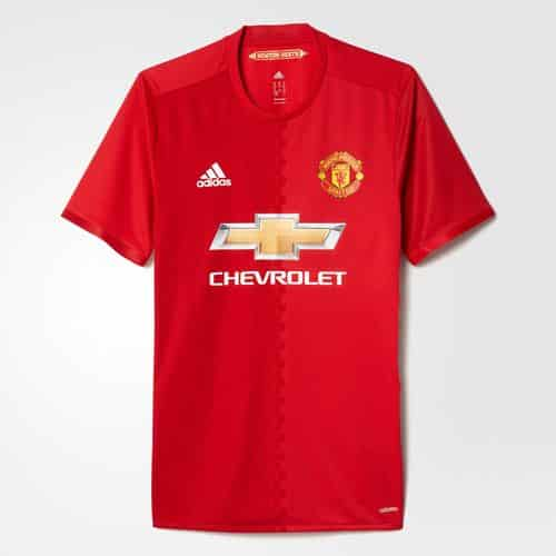 maillot manchester united home 2016 2017 adidas