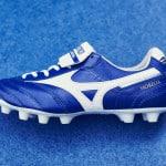 Un nouveau coloris bleu/blanc pour la Mizuno Morelia II MD