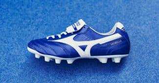 Image de l'article Un nouveau coloris bleu/blanc pour la Mizuno Morelia II MD