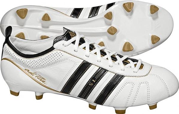 chaussure-football-adidas-adipure-iv-sl-blanc-or-noir