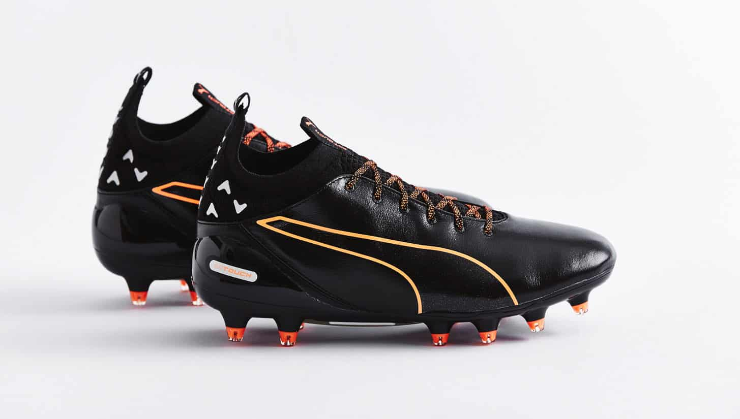 chaussures-football-puma-evotouch-noir-orange-2