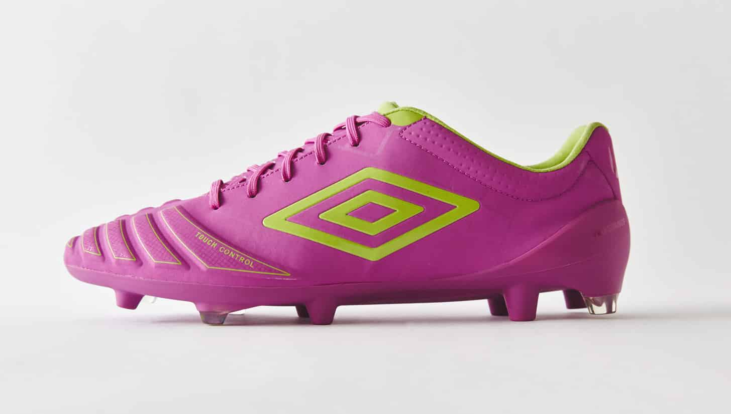 chaussures-football-umbro-ux-accuro-violet-vert-citron-img2