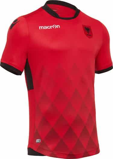 maillot-domicile-albanie-2017-macron