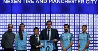 Image de l'article Manchester City est le premier club à dévoiler son sponsor sur la manche