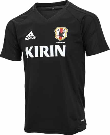 maillot-football-entraînement-adidas-japon-2017-noir-img1