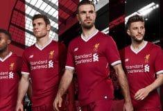 Image de l'article New Balance dévoile le maillot domicile 2017-2018 de Liverpool