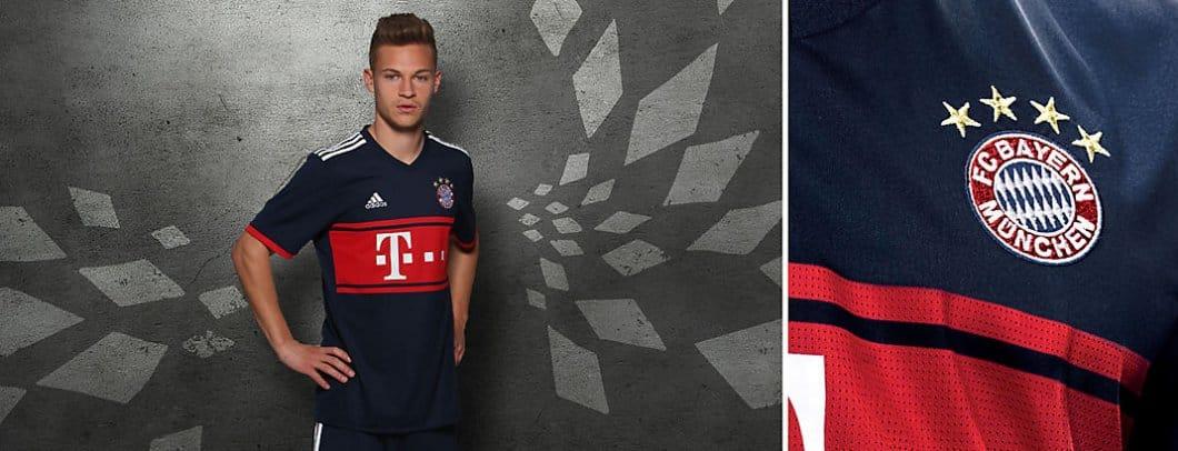 Maillot shirt away adidas Bayern exterieur Munich 2017 2018 - 3