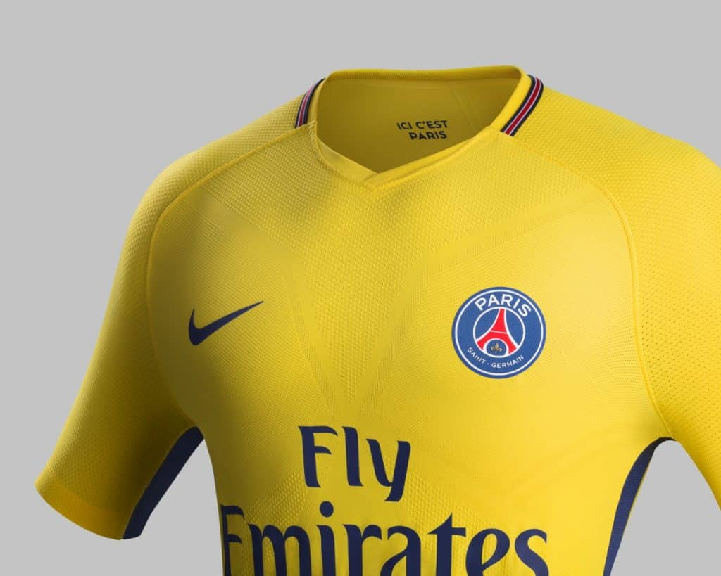 nike lance le maillot domicile 2017 2018 du paris saint germain psg. Black Bedroom Furniture Sets. Home Design Ideas
