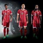 Les maillots du Bayern Munich pour la saison 2017-2018