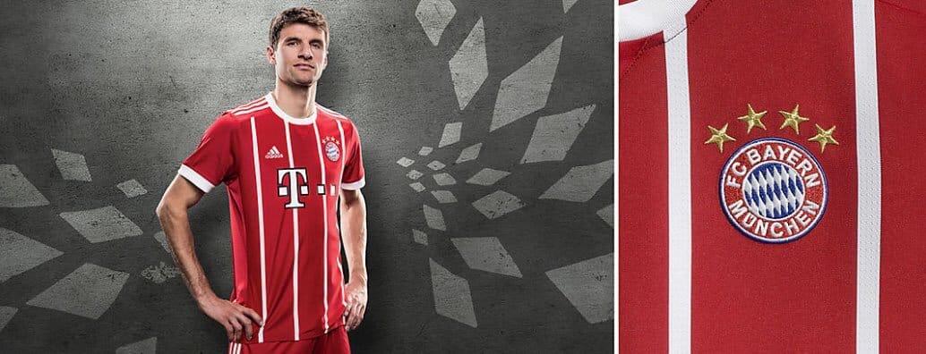Maillot shirt home adidas Bayern domicile Munich 2017 2018 - 2