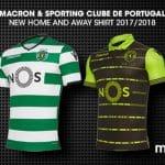 Les maillots du Sporting Portugal pour 2017-2018