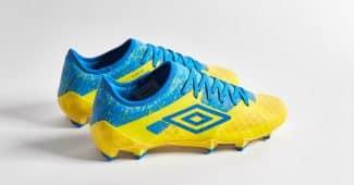 Image de l'article Au tour de la Velocita 3 d'Umbro de porter le coloris «jaune/bleu électrique»