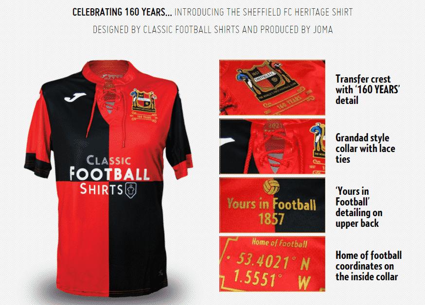 le plus vieux club de football du monde a f t ses 160 ans avec un maillot unique. Black Bedroom Furniture Sets. Home Design Ideas