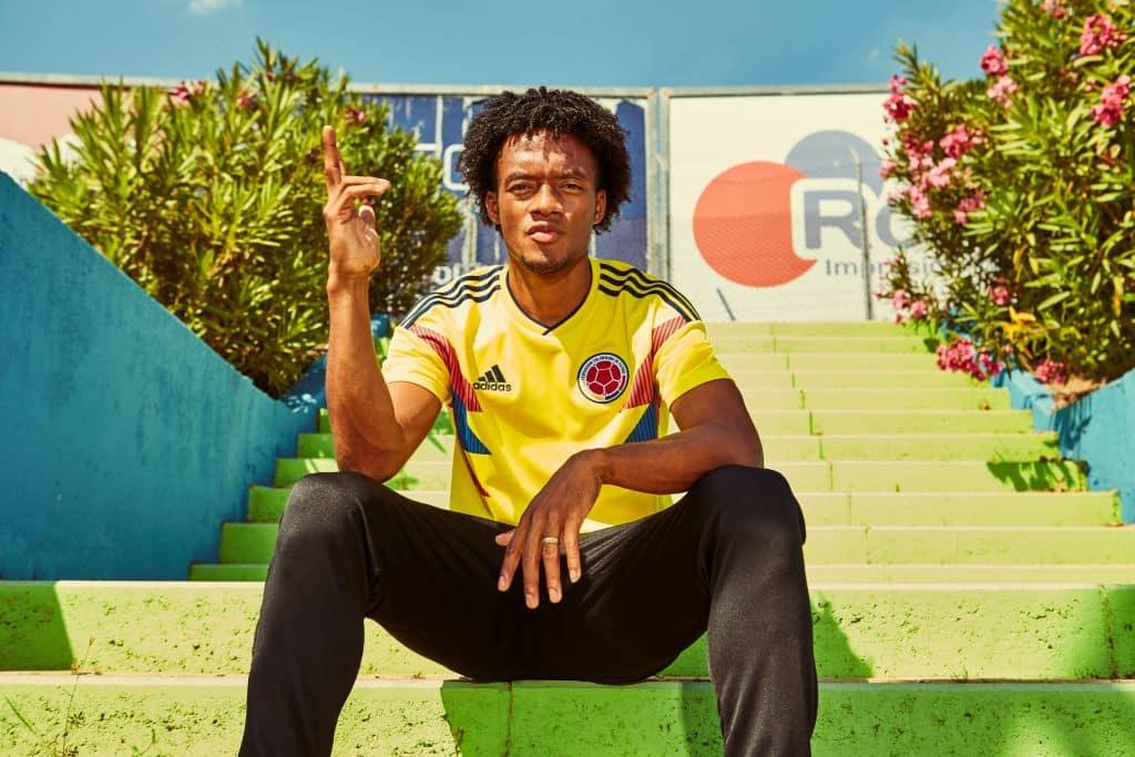 adidas d voile les maillots de la colombie pour la coupe du monde 2018. Black Bedroom Furniture Sets. Home Design Ideas