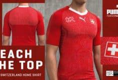 Image de l'article Puma dévoile les nouveaux maillots de la Suisse pour la Coupe du Monde