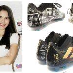 Les nouvelles chaussures customisées de Messi