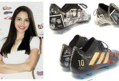 Image de l'article Les nouvelles chaussures customisées de Messi