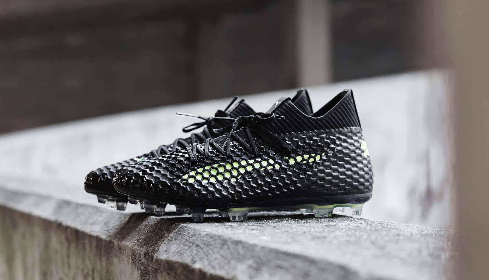 chaussures-football-Puma-Future-18-Netfit-Black-Fizzy-Yellow-img1