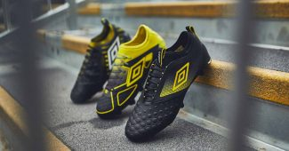 Image de l'article Umbro dévoile son nouveau pack « Black/Golden Kiwi »