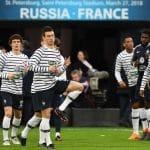Les chaussures des 23 joueurs de l'équipe de France