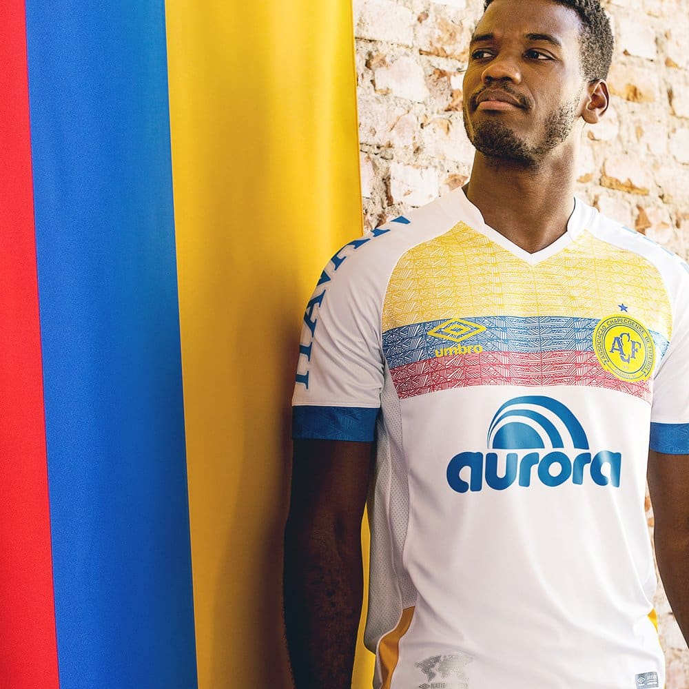 maillots-football-Umbro-nations-chapecoense-colombie-avril-2018
