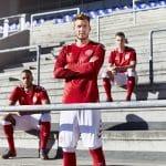 Les maillots du Danemark et les chaussures des 23 joueurs pour la Coupe du monde 2018