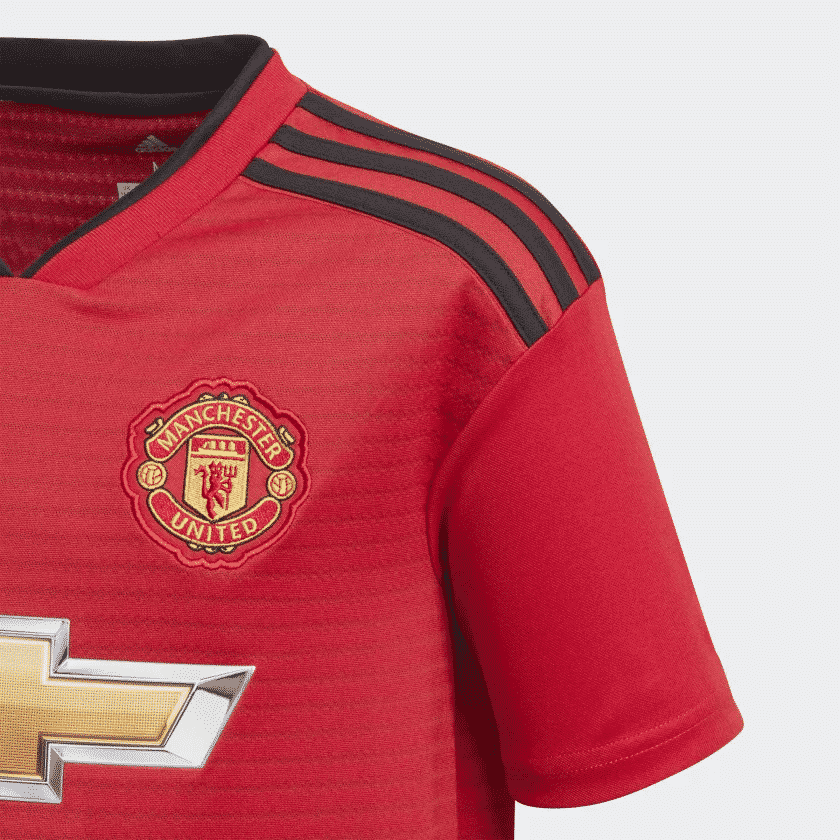 maillot-manchester-united-domicile-2018-2019-detail
