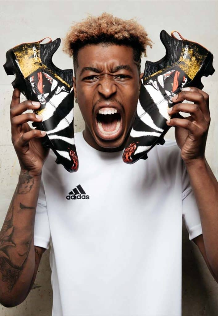 chaussures-football-adidas-glitch-skins-wc-kimpembe 1