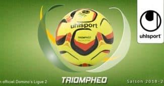 Image de l'article Uhlsport présente Triomphéo, le ballon officiel de la Domino's Ligue 2