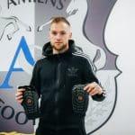 Footpack était à Amiens en fin de saison dernière pour faire découvrir les produits G-Form aux joueurs
