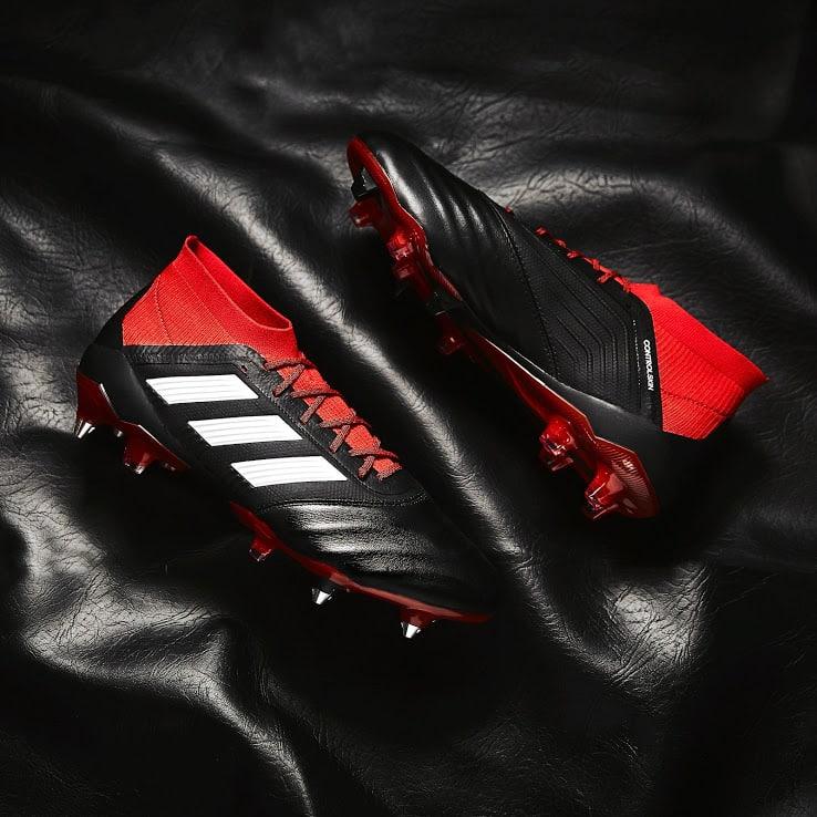 adidas-predator-18.1-cuir-noir-rouge