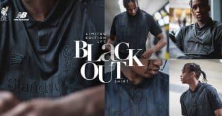 Image de l'article Liverpool et New Balance dévoilent un maillot blackout en édition limitée!