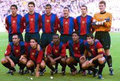 Image de l'article Le FC Barcelone dévoile une tenue en hommage à son premier maillot Nike