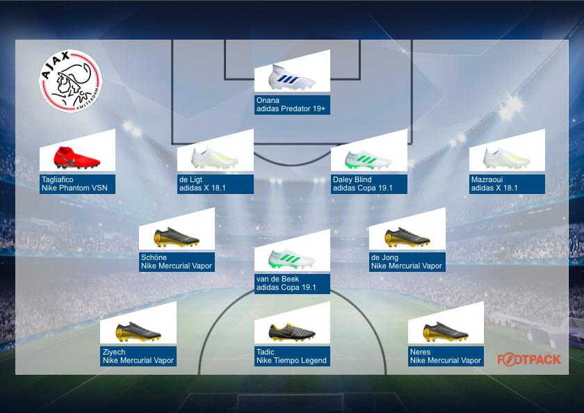 compos-chaussures-ajax-amsterdam-demi-finale-ligue-des-champions-tottenham-ajax