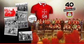 Image de l'article Le Bayer Leverkusen dévoile un maillot spécial pour ses 40 ans en Bundesliga