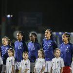 Les chaussures des 23 joueuses de l'équipe de France pour la Coupe du Monde 2019