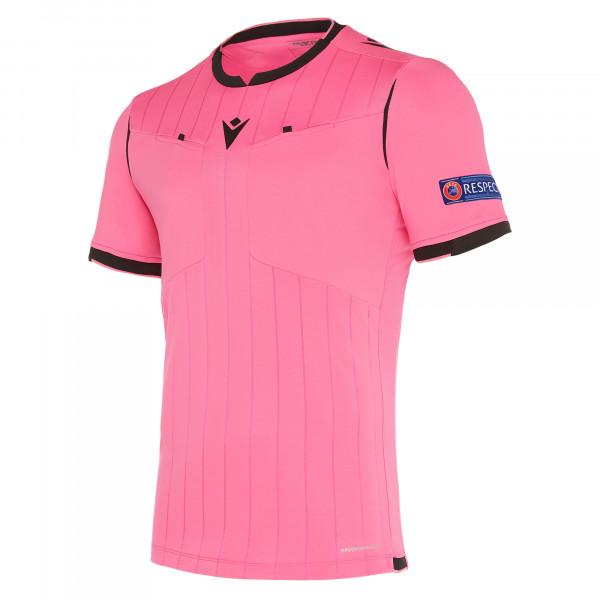 maillot-arbitre-uefa-macron-rose