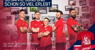 Image de l'article Le RB Leipzig fête ses 10 ans avec un maillot spécial